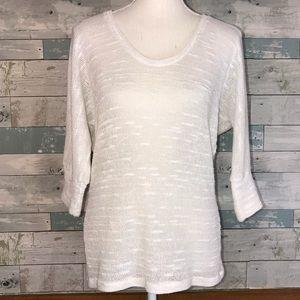 Splendid white slub knit sweater XS #255